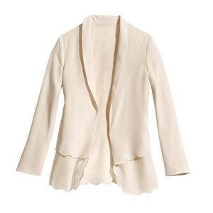 H&M Conscious Scalloped Edge Blazer
